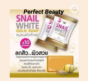 Snail White Gold Soap ×10 Intensive Whitening Soap | Skin Care for sale in Lagos State, Ikeja