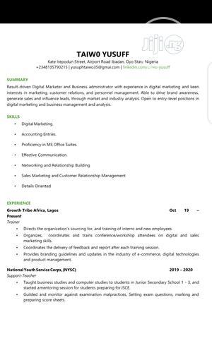 Teaching CV | Teaching CVs for sale in Oyo State, Egbeda