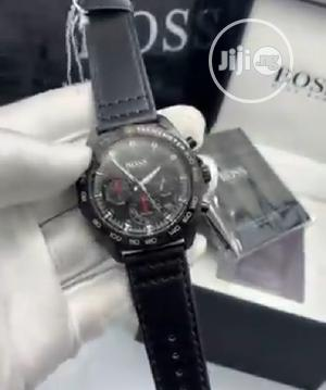 High Quality Hugo Boss Black Dial Leather Watch   Watches for sale in Lagos State, Magodo