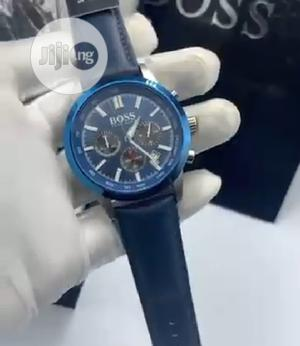 High Quality Hugo Boss Blue Dial Leather Watch   Watches for sale in Lagos State, Magodo