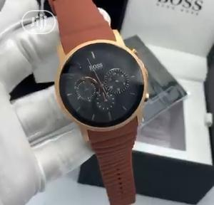 High Quality Hugo Boss Black Dial Rubber Watch   Watches for sale in Lagos State, Magodo