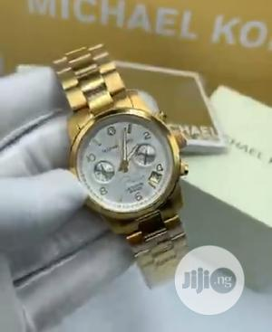 High Quality Michael Kors Rose Gold Dial Stainless Steel | Watches for sale in Lagos State, Magodo