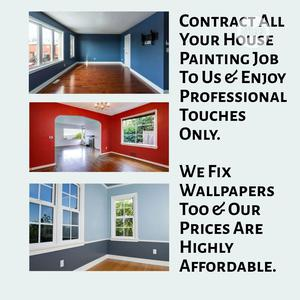 Affordable House Painter Wallpaper Fixing   Building & Trades Services for sale in Lagos State, Ikeja