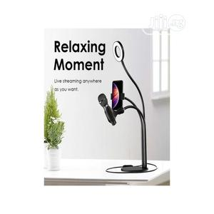 Ringlight With Phone And Mic Holder | Accessories & Supplies for Electronics for sale in Rivers State, Port-Harcourt