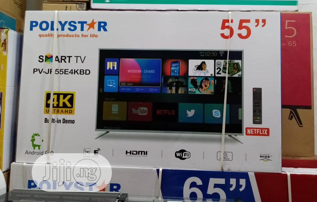 Original 55inches Polystar Smart Television | TV & DVD Equipment for sale in Ojo, Lagos State, Nigeria