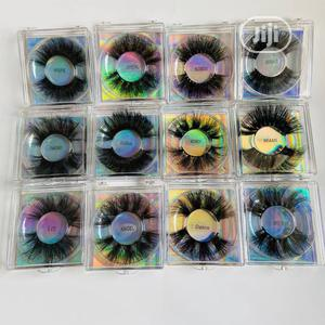 8D Fluffy Lashes 25mm Original Human Hair | Makeup for sale in Lagos State, Ikeja