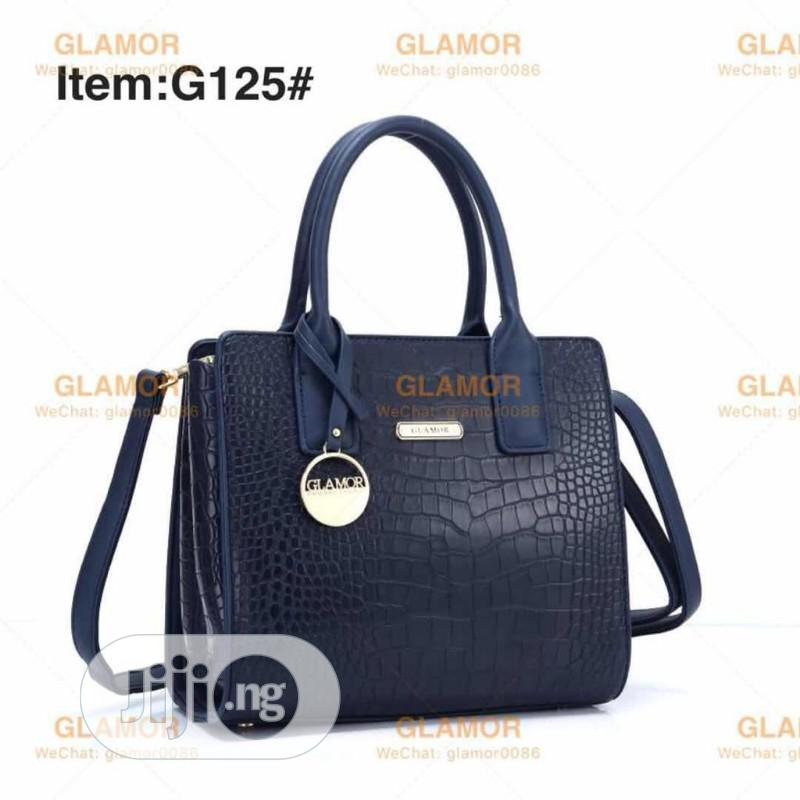 Navy Blue Female Turkey Leather Handbag