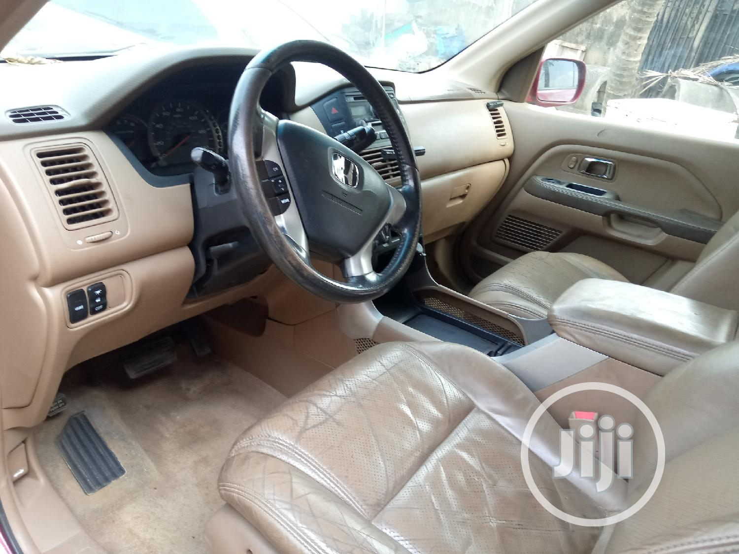 Honda Pilot 2004 EX 4x4 (3.5L 6cyl 5A) Red | Cars for sale in Ogba, Lagos State, Nigeria