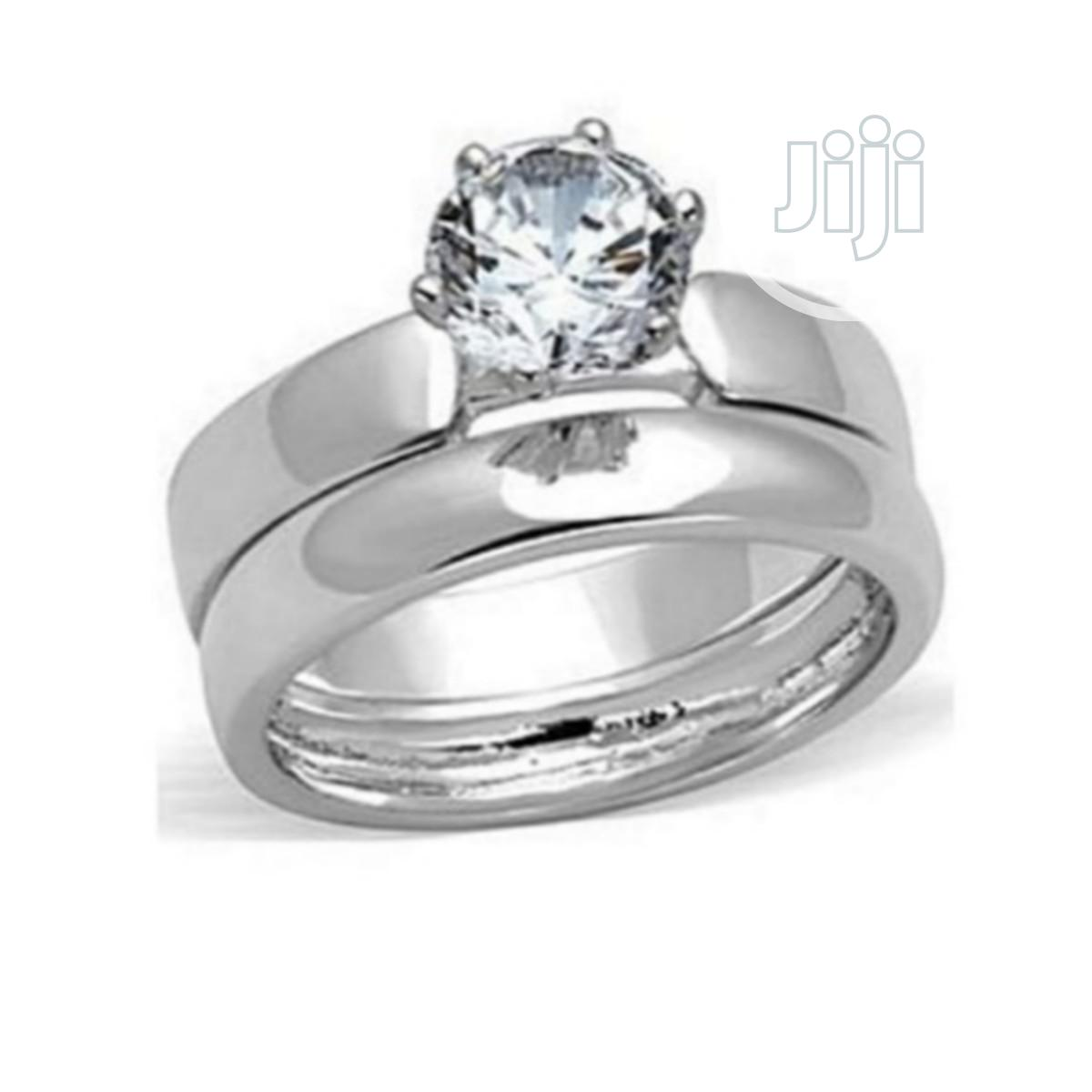 Archive: Silver Wedding And Engagement Ring