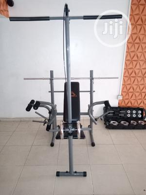 Weight Bench With 50kg Barbell /Dumbell Set | Sports Equipment for sale in Akwa Ibom State, Uyo