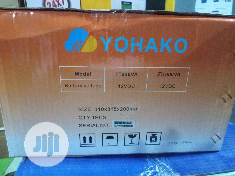 12v1kva Pure Sine Wave Yohako Smart Inverter   Solar Energy for sale in Ikeja, Lagos State, Nigeria