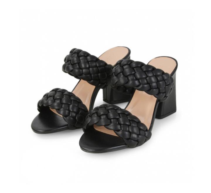Archive: Black Block Heel Slippers