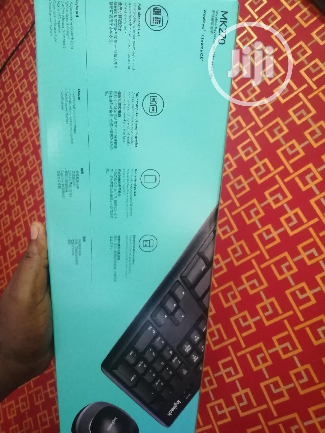 Logitech MK270 Wireless Keyboard and Mouse   Computer Accessories  for sale in Ikeja, Lagos State, Nigeria