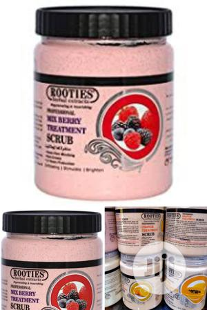 Rooties Herbal Extract Strawberry Face Body Scrub | Skin Care for sale in Lagos State, Apapa