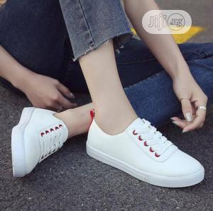 Plain White Sneakers | Shoes for sale in Lagos State, Ikeja
