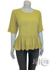 Vero Moda Chartreuse Half Sleeve Peplum Top | Clothing for sale in Abuja (FCT) State, Durumi