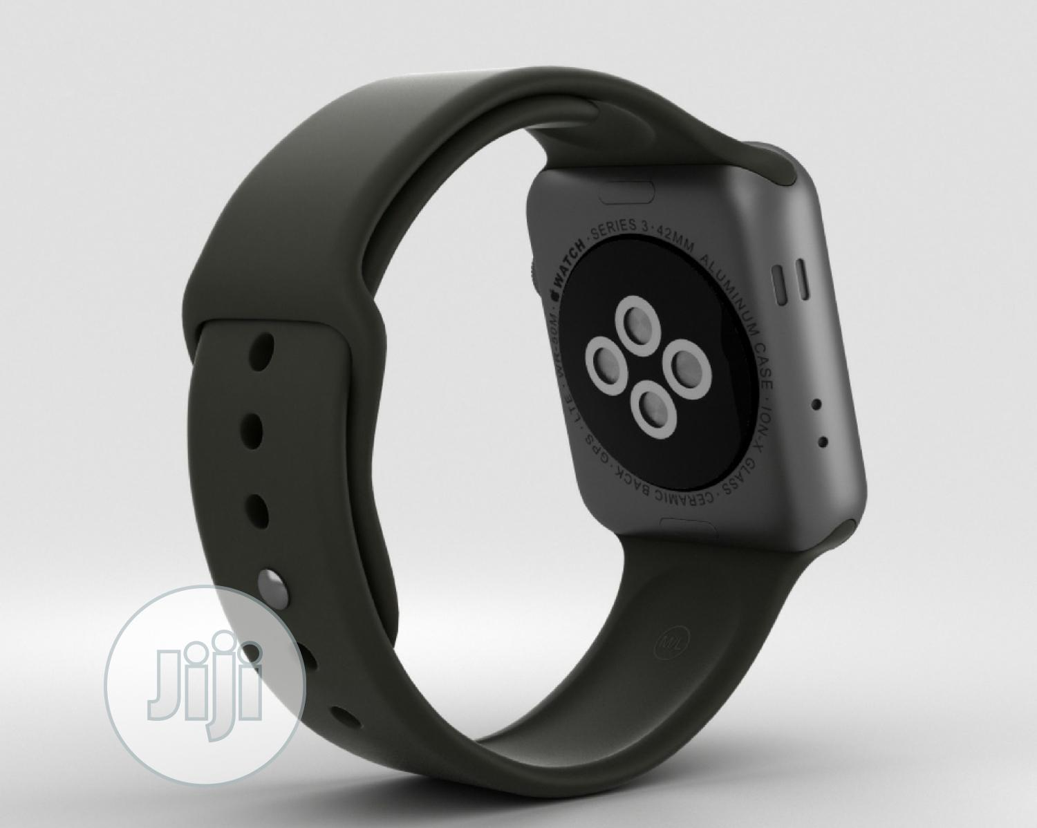 Apple Watch Series 3 (GPS + Cellular) With Black Sport Band   Smart Watches & Trackers for sale in Alimosho, Lagos State, Nigeria