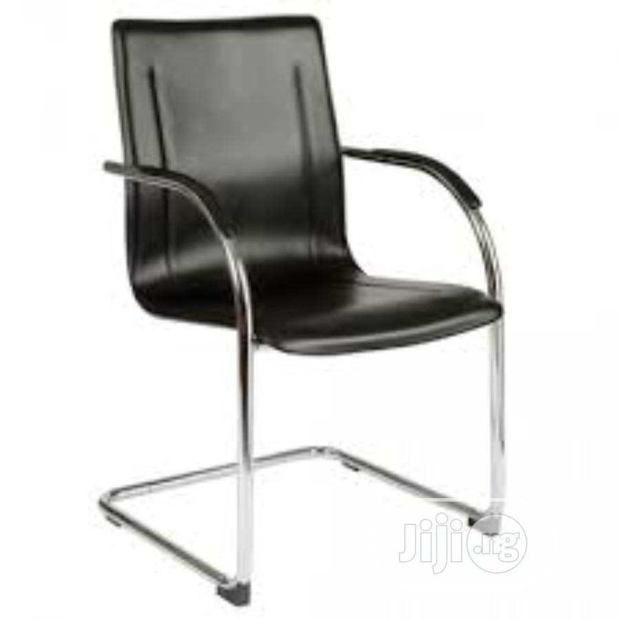 Lather Conference Non-Revolving Office Chair