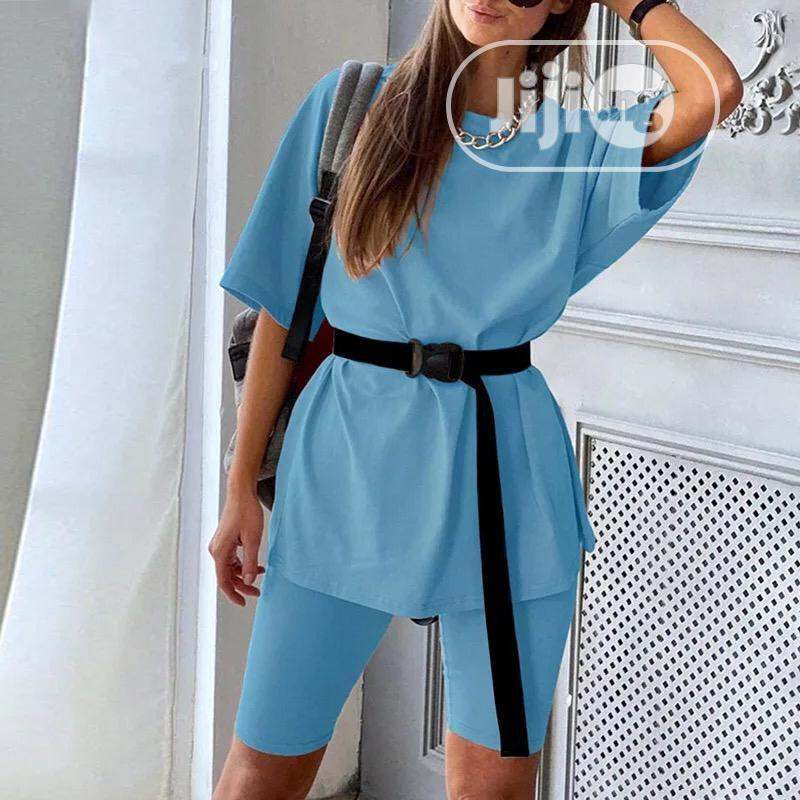 Women's Two Piece Suit With Belt Home Loose Sports Tracksuit | Clothing for sale in Lekki, Lagos State, Nigeria