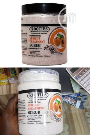 Rooties Herbal Extract Apricot Treatment Face And Body Scrub | Skin Care for sale in Lagos State, Apapa