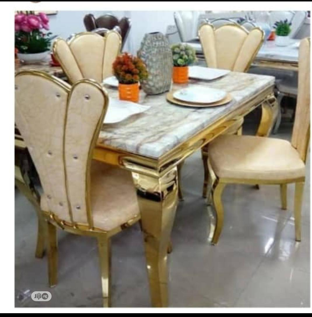 Marble Top Dining Table With 4 Chairs