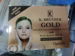 K.Brother Gold Anti Spot Whitening Facial Cream. Pack Of 12 | Skin Care for sale in Lagos State, Apapa