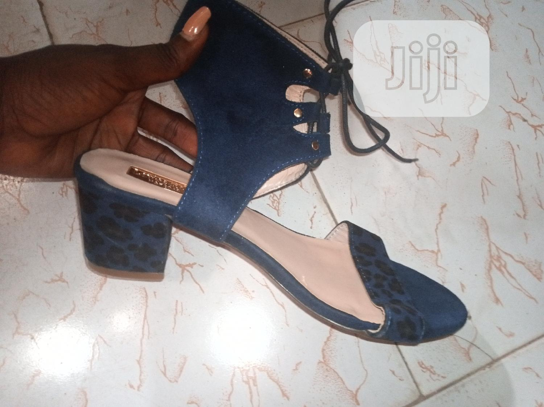 Archive: Black and Blue Sandal Block Heel