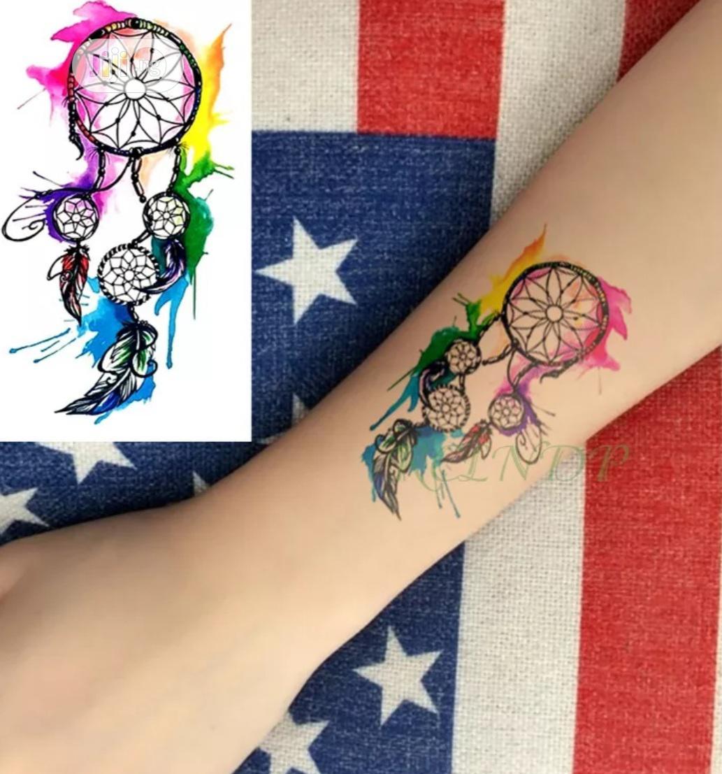 Indie Net Flower Temporary Tattoo Body Art Sticker