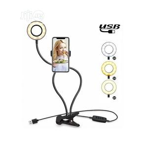 Phone Holder Clip Selfie Ring Light Stand | Accessories & Supplies for Electronics for sale in Lagos State, Lagos Island (Eko)