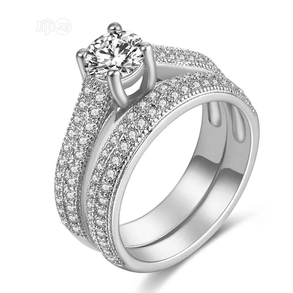 White Gold Wedding Ring With Free Ring Box