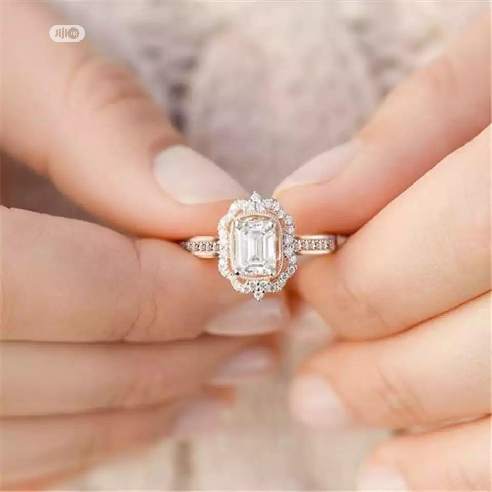 Rose Gold Proposal Ring for Women Comes With Free Ring Box   Wedding Wear & Accessories for sale in Akure, Ondo State, Nigeria