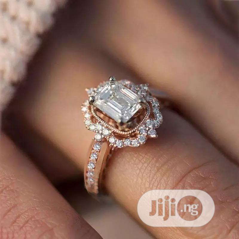 Rose Gold Proposal Ring for Women Comes With Free Ring Box
