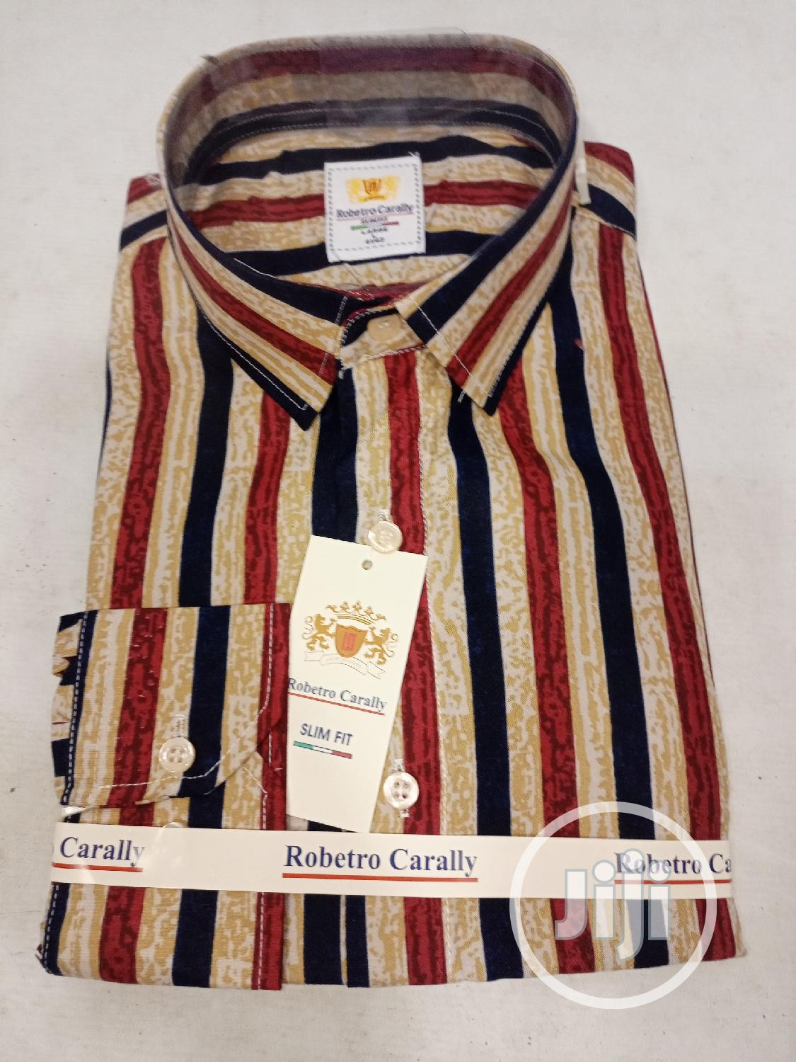 Stripe Designers Men Shirt. | Clothing for sale in Victoria Island, Lagos State, Nigeria