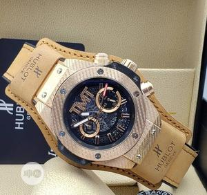 High Quality Hublot TMT Black Dial Leather Watch   Watches for sale in Lagos State, Magodo