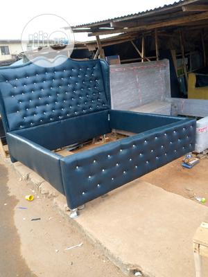 6by6 Bed Made of Stock Leather   Furniture for sale in Lagos State, Ikeja