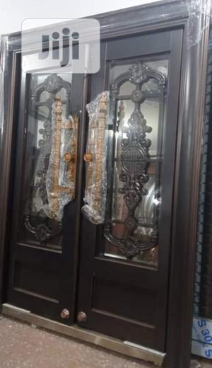 5ft by 7ft Copper Swing Glass Door | Doors for sale in Lagos State, Orile