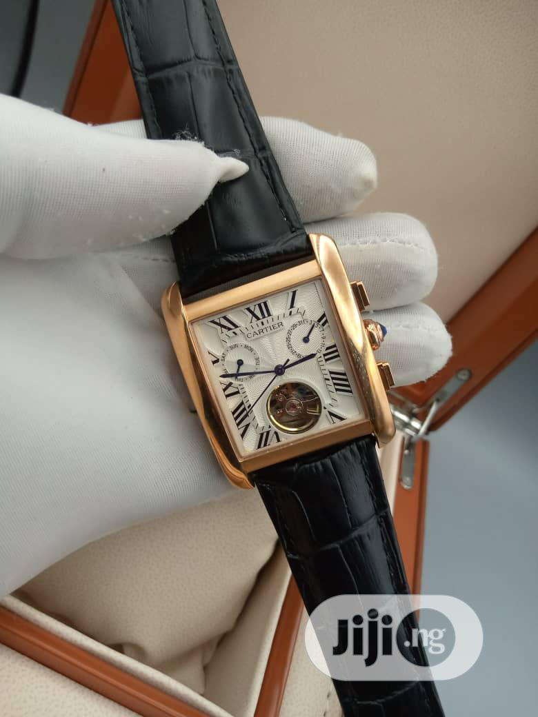 Quality and Unique Cartier Leather Wrist Watch | Watches for sale in Lagos Island (Eko), Lagos State, Nigeria