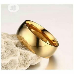 Stainless Steel Round Smooth 8mm Gold Ring | Jewelry for sale in Lagos State, Ikorodu