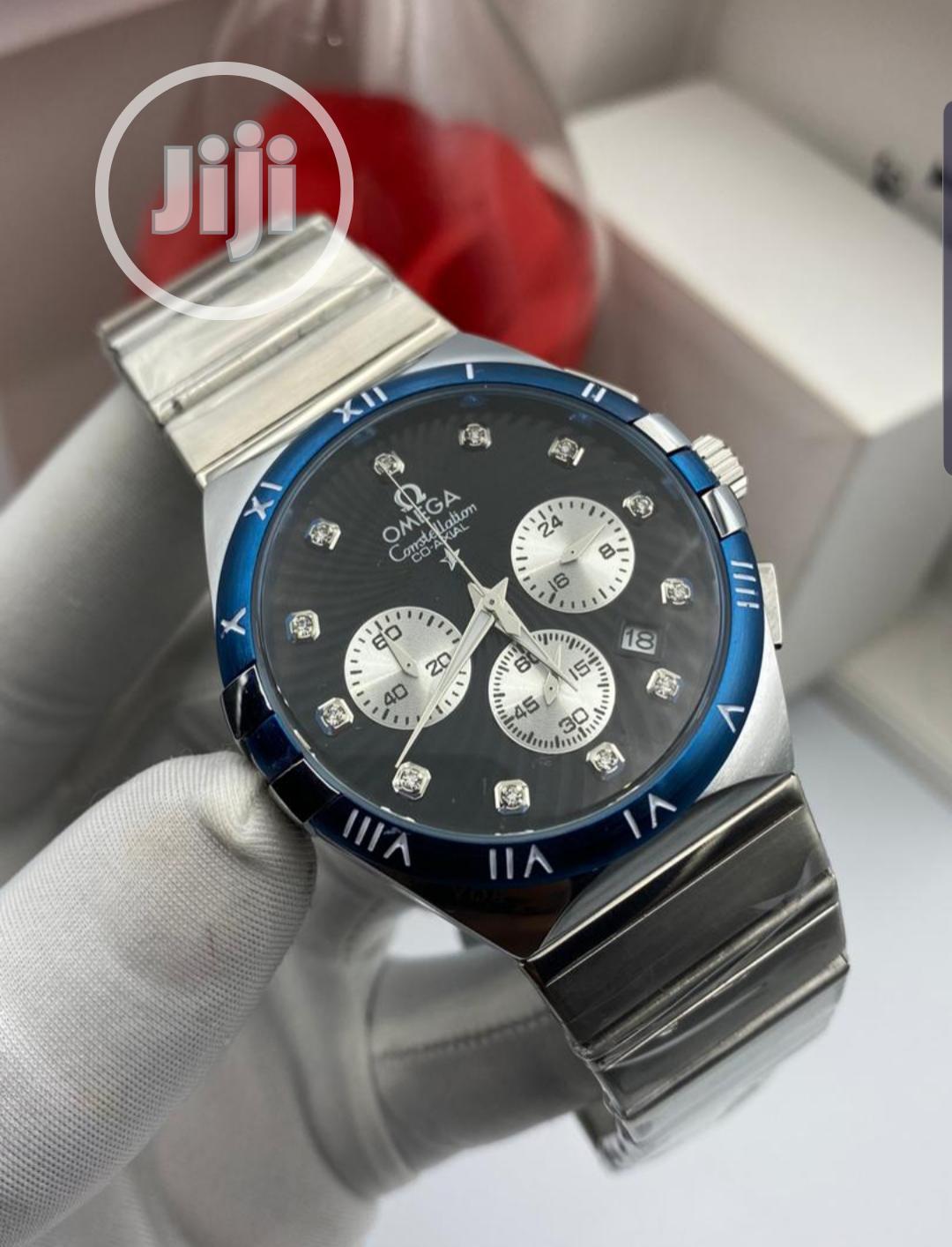 Men's Top Brand Luxurious Bussiness Gold Waterproof Watch