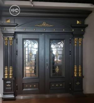 5ft Copper With Ark And Pillars Door   Doors for sale in Lagos State, Orile