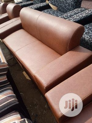 Skinny Brown Leather Chair | Furniture for sale in Lagos State, Alimosho