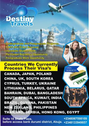 100% Sure Student And Visit Visa's | Travel Agents & Tours for sale in Abuja (FCT) State, Garki 1