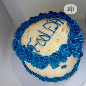 Blue Roses Chocolate Birthday Cake   Meals & Drinks for sale in Lagos State, Ipaja