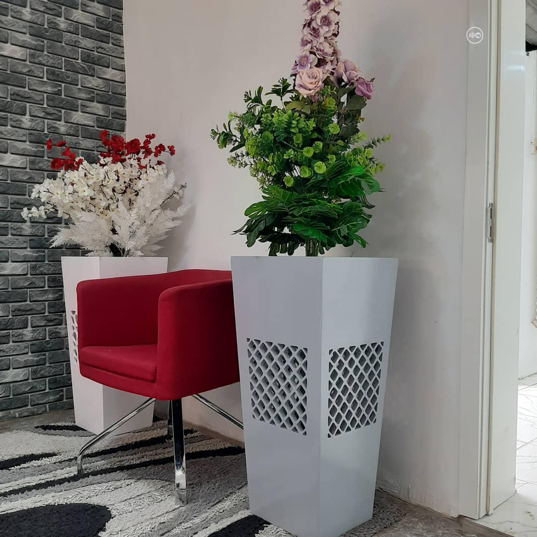 Big Flower Pot With Artificial Plants. | Garden for sale in Ikeja, Lagos State, Nigeria