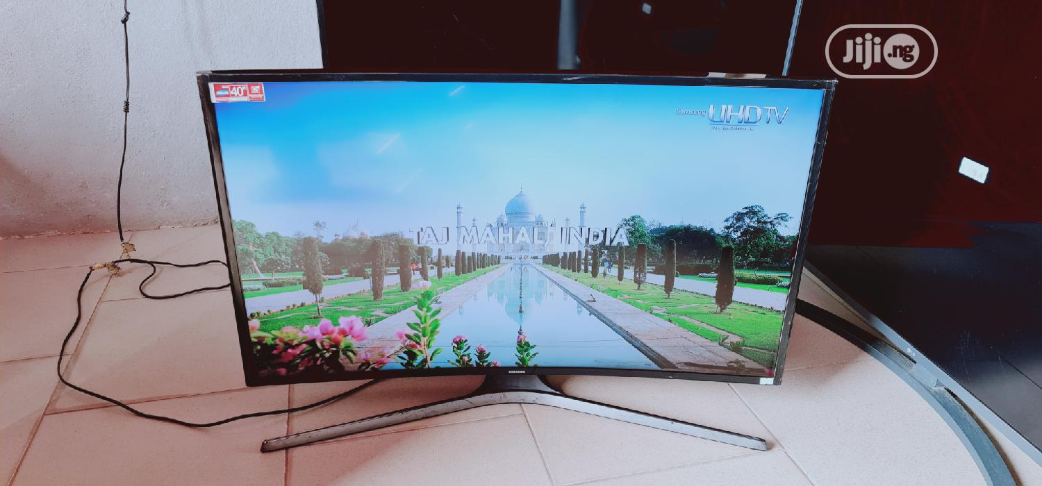 40 Inches Samsung Smart UHD 4k Curved Led Tv | TV & DVD Equipment for sale in Ojo, Lagos State, Nigeria