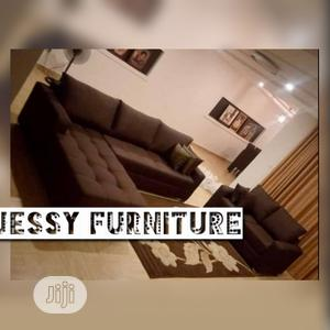 New Set of L-Shaped Fabric Sofa With 2seater | Furniture for sale in Lagos State, Ilupeju