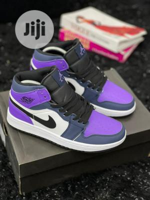 Air Jordan 1 MID GS PURPLE OBSIDIAN/SANDED Original   Shoes for sale in Lagos State, Surulere