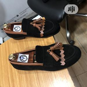 Black Suede Loafers With Golden Brown Tassel   Shoes for sale in Lagos State, Mushin
