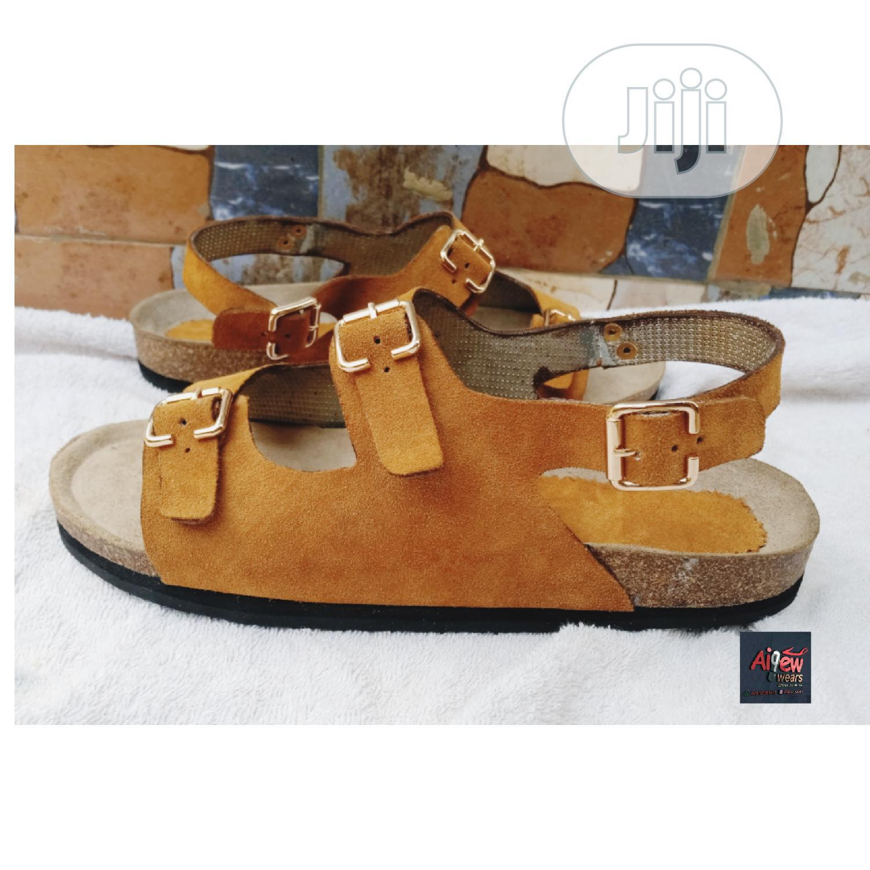 Suede Sandal (Birkenstock Black) | Shoes for sale in Ifako-Ijaiye, Lagos State, Nigeria