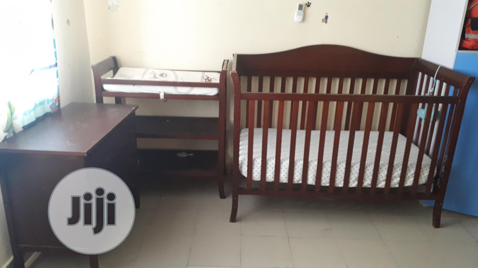 Full Baby Nursery - Crib, 3 Layer Drawer And Changing Table | Children's Furniture for sale in Lekki, Lagos State, Nigeria